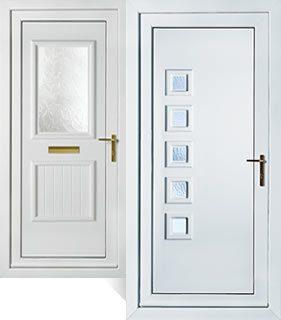 Upvc front door pvcu back doors peterborough doors for Double back doors