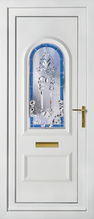UPVC Front Door with Crystal Collection Peterborough