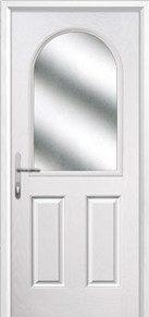 2 Panel 1 Arch Glazed Composite Back Doors Peterborough