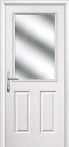 2 Panel 1 Square Glazed Composite Back Doors Peterborough