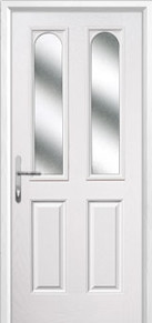 2 Panel 2 Angle Glazed Composite Back Doors Peterborough
