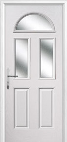 2 Panel 2 Square 1 Arch Glazed Composite Doors Peterborough