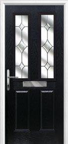 Black 2 Panel Composite Door Peterborough