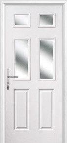 2 Panel 4 Square Glazed Composite Back Doors Peterborough