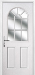 2 Panel Sunburst Composite Back Doors Peterborough