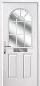 2 Panel Sunburst Composite Doors Peterborough
