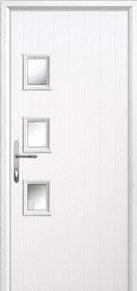 3 Square Glazed Composite Back Doors Peterborough
