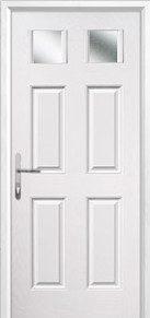 4 Panel 2 Square Glazed Composite Back Doors Peterborough