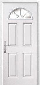 4 Panel Sunburst Glazed Composite Back Doors Peterborough