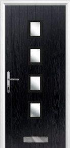 4 square glazed Composite Door Peterborough