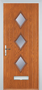 3 diamond glazed Composite Door Peterborough