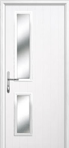 Twin Square Glazed Composite Back Doors Peterborough