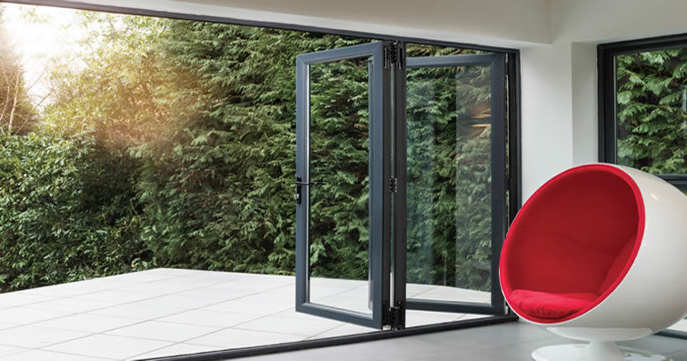 Alumina Liniar Bifold Doors Peterborough