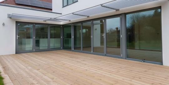 aluminium bi-folding doors Peterborough