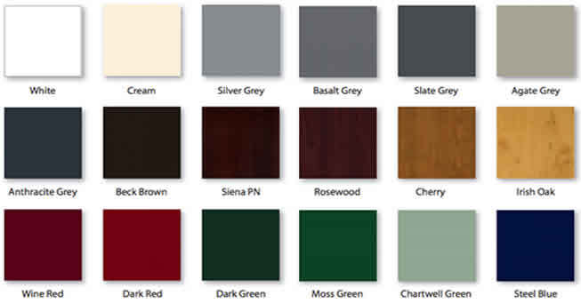 UPVC Windows Foil Colours