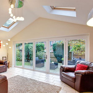 Conservatory Tiled Roof with stunning bifold door Peterborough