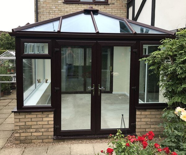 Conservatory with French Doors Peterborough