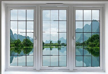 Double glazed windows with Trickle vents